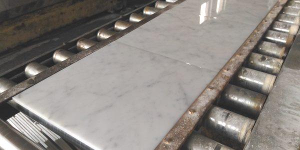 Carrara marble tiles polished