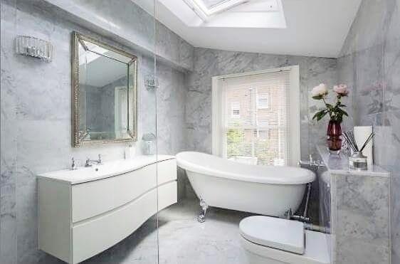 Carrara White CD Marble Bathroom