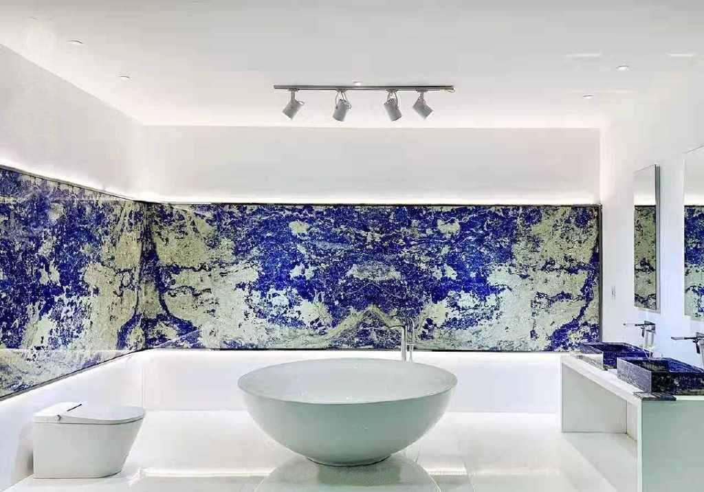 Sodalite-marble-bathroom