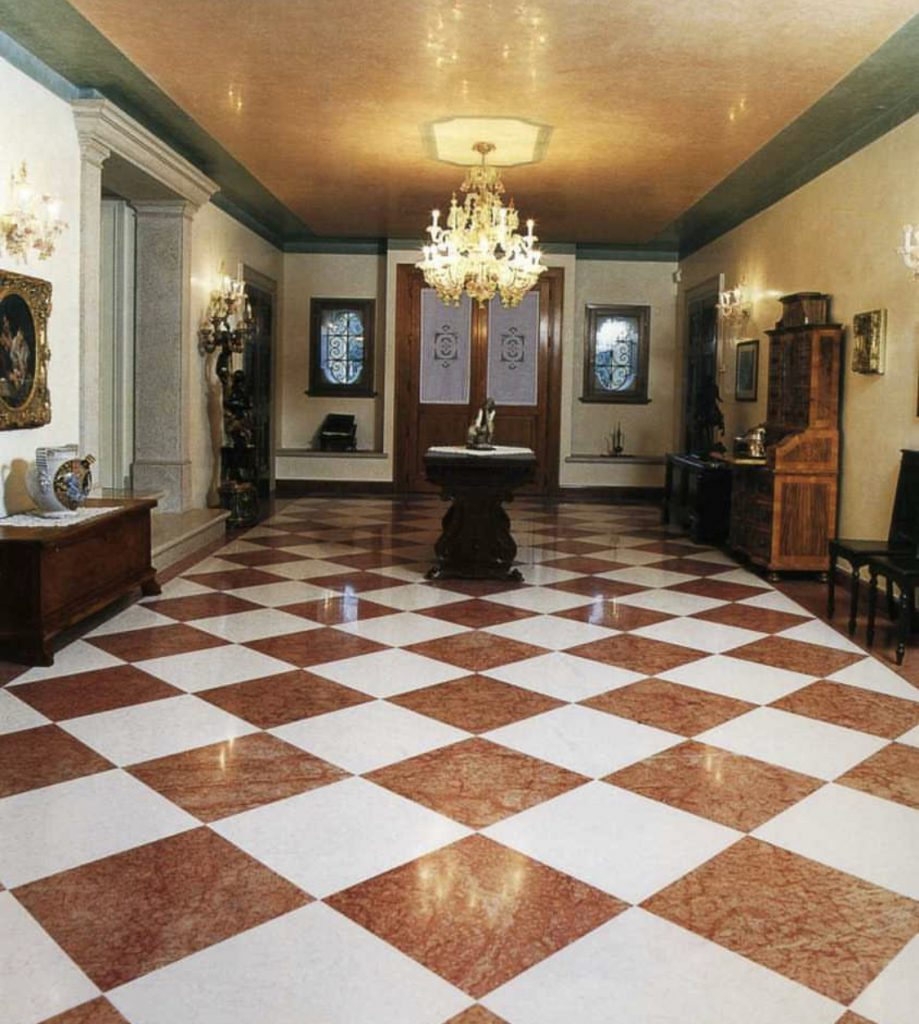 bianco-perlino-marble-chess-pattern- floor