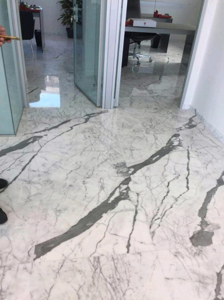 carrara-venato-marble-office-floor