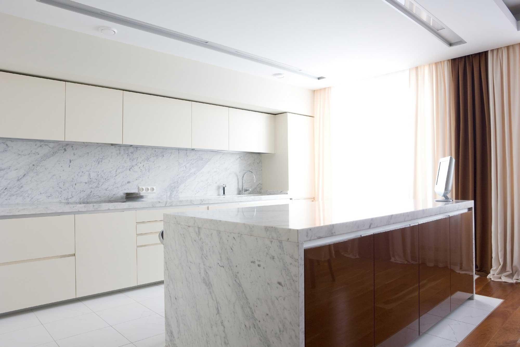 Carrara marble KItchen countertop