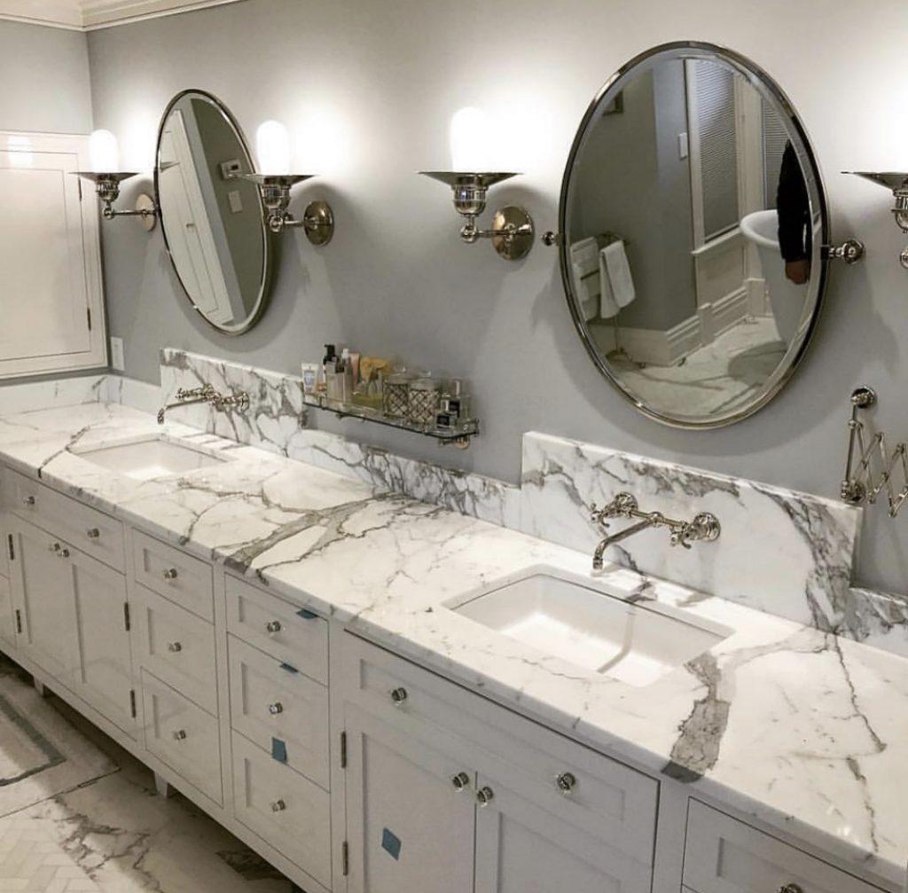 Calacatta marble bathroom