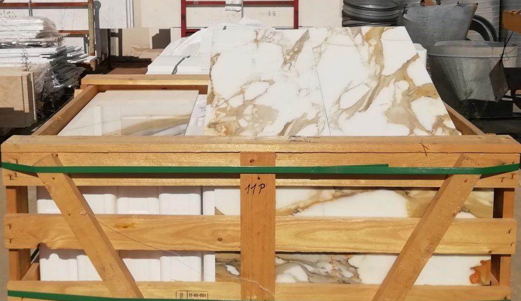 Calacatta gold marble tiles