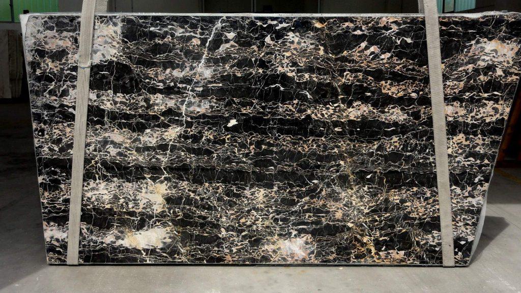 Nero portoro marble slabs 20mm thick