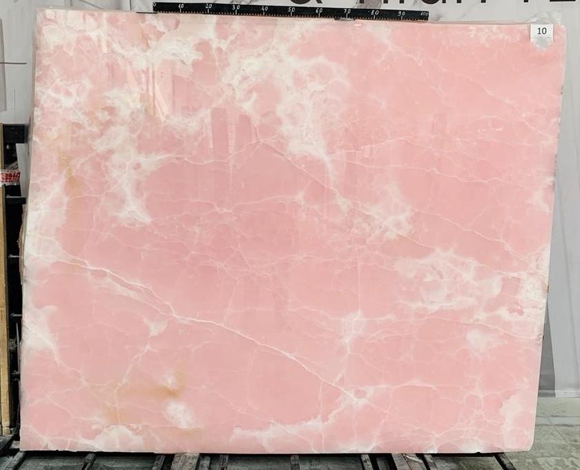 Pink onyx marble slabs