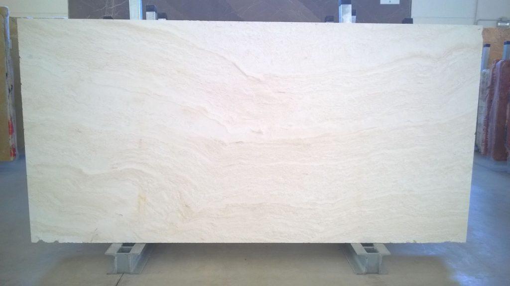 Travertine white slabs