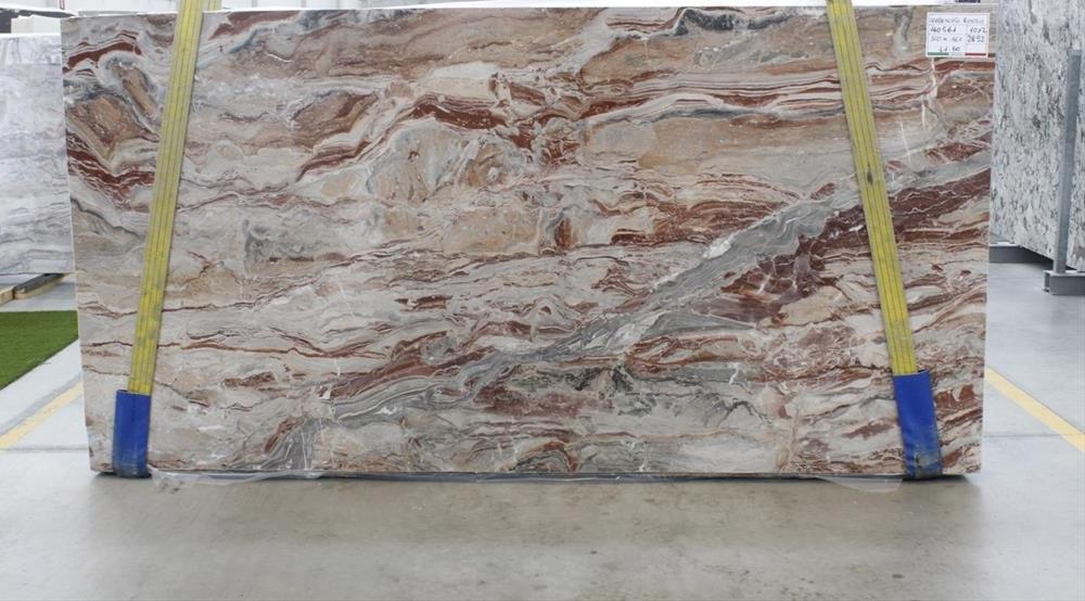 Arabescato Orobico Rosso marble slabs