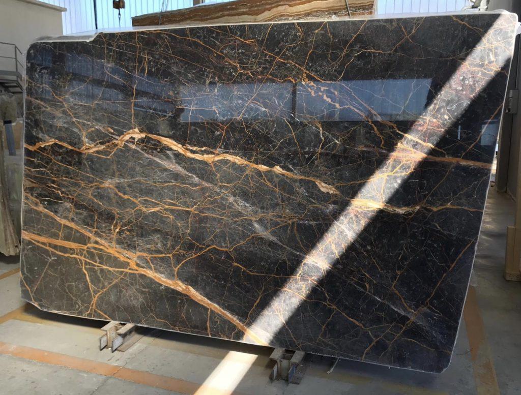 Nero Saint Laurent marble slabs