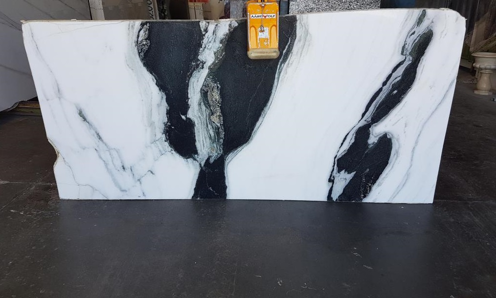 Panda white marble slab exta quality