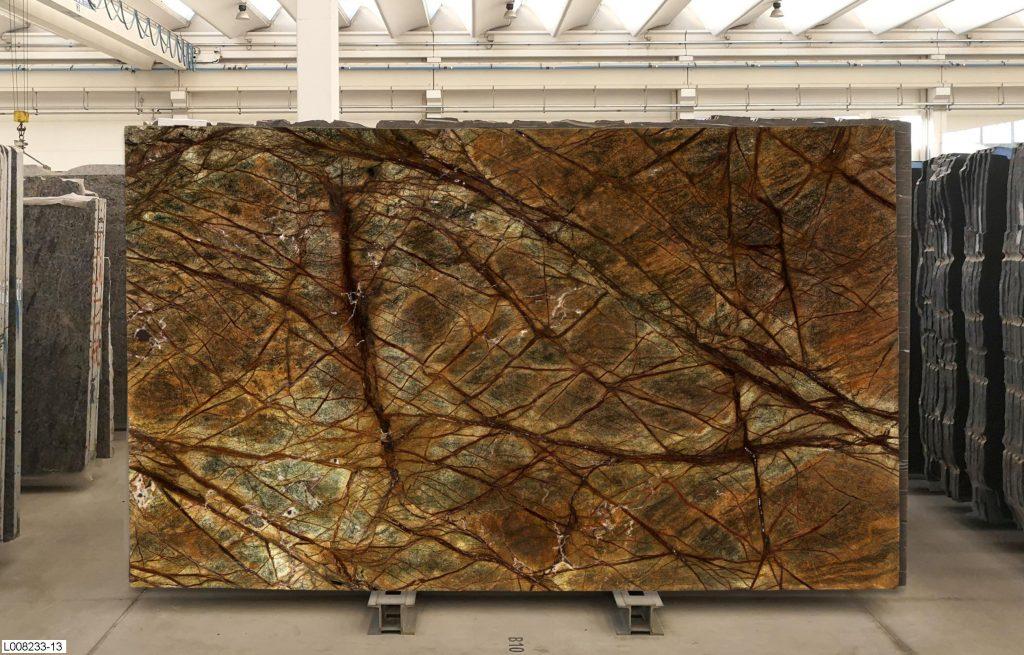 Rainforest green marble slabs