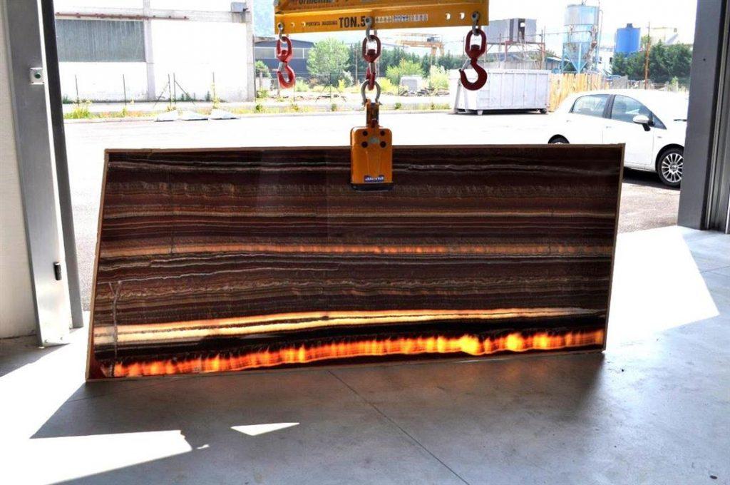 Red Onyx marble slabs